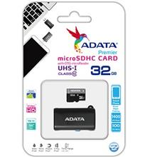 ADATA Premier 32GB UHS-I U1 Class 10 50MBps microSDHC with OTG microReader